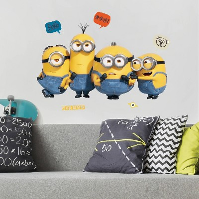 Minions 2 Peel and Stick Giant Wall Decals - RoomMates