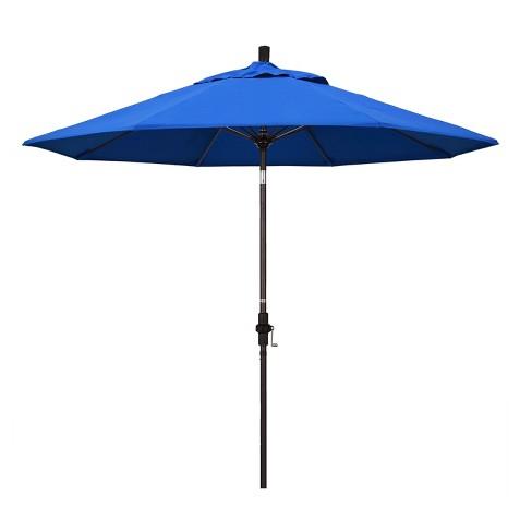 9 Aluminum Collar Tilt Crank Patio Umbrella California