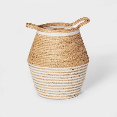 Floor Water Hyacinth and Coiled Rope Storage Bin - Pillowfort™