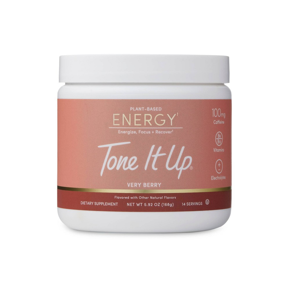 Tone It Up Plant Based Energy Powder Very Berry 5 92oz