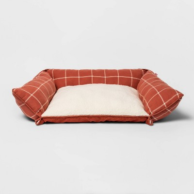 Rectangular Pillow Couch Plaid Dog Bed - M - Boots & Barkley™