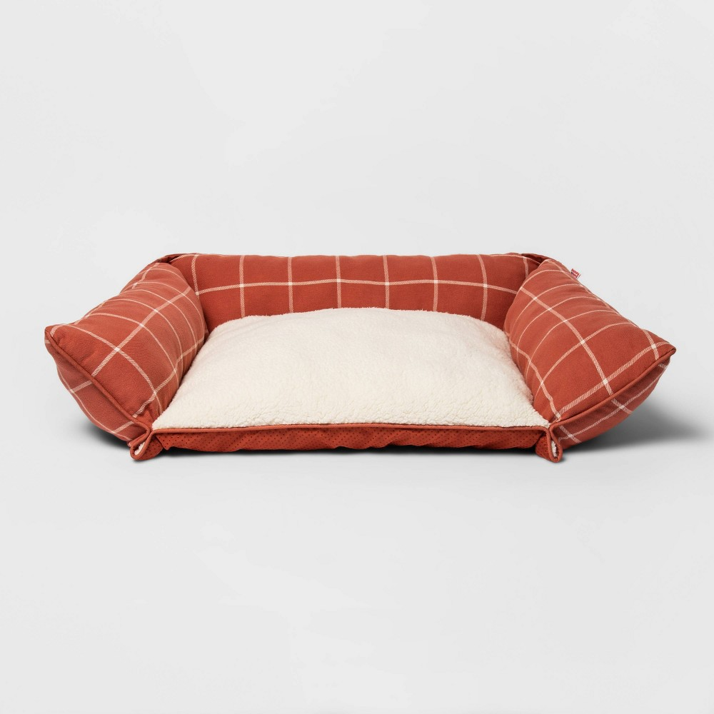 Rectangular Pillow Couch Plaid Dog Bed M Boots 38 Barkley 8482