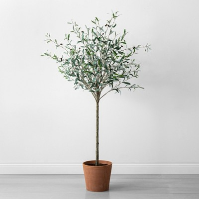 """72"""" Faux Olive Branch Tree - Hearth & Hand™ with Magnolia"""