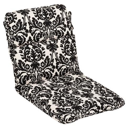 Outdoor Seat Pad Dining Bistro Cushion Black White Fl