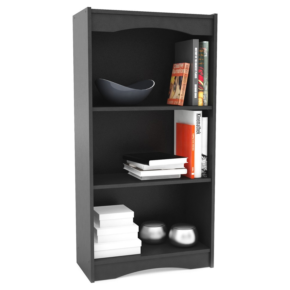 """Image of """"48"""""""" Hawthorn Tall Bookcase Midnight Black - Corliving"""""""