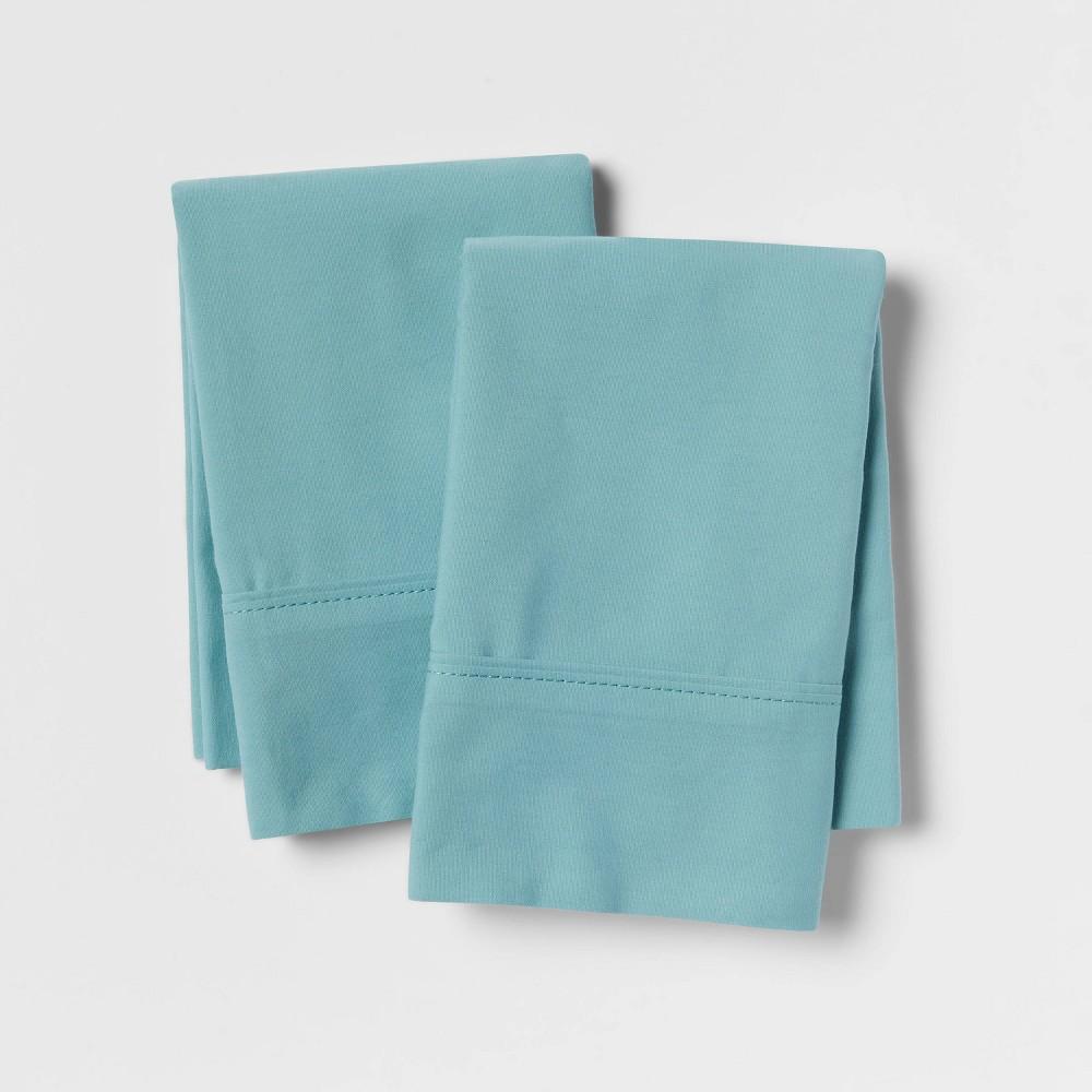 Ultra Soft Pillowcase Set (Standard) Ancient Aqua 300 Thread Count - Threshold Promos