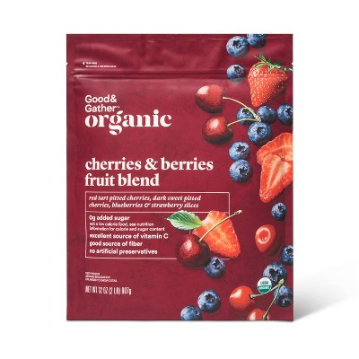 Organic Cherries & Berries Frozen Fruit Blend - 32oz - Good & Gather™