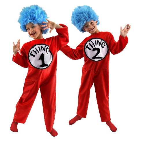 Kids' Dr. Seuss  Thing 1 and 2 Costume - image 1 of 1