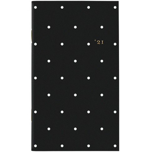 "2021 Planner 3.625"" x 6.25"" Packet Stitched Black Dot - Sugar Paper™ - image 1 of 4"