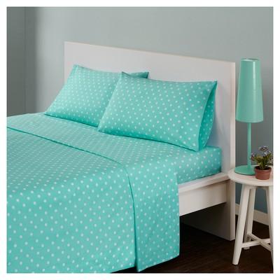 Polka Dot Printed Cotton Sheet Set