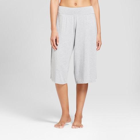 73361b4446c42 Women s Wide Leg Crop Pajama Pants - Gilligan   O Malley™ Heather Gray