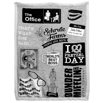 "60""x90"" The Office Sherpa Blanket"