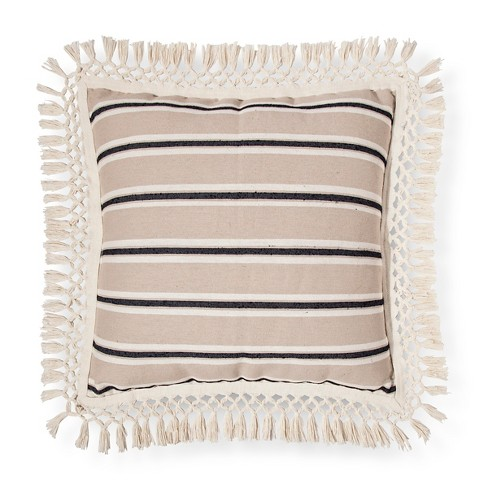 Cream Stripe Throw Pillow - Threshold™ - image 1 of 1