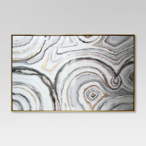 geode framed high gloss canvas 40 x25 project 62 target