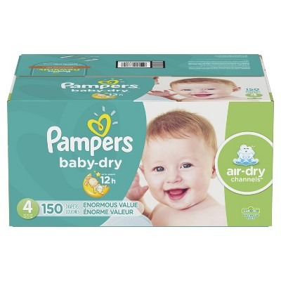 Pampers Baby Dry Disposable Diapers Enormous Pack - Size 4 (150ct)