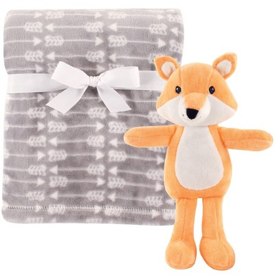 Hudson Baby Unisex Baby Plush Blanket with Toy - Fox One Size