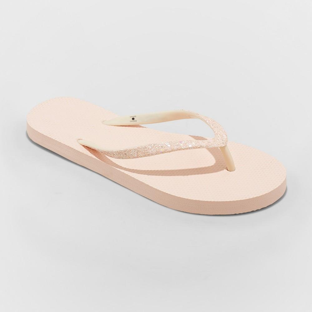 Women's Brynn Glitter Flip Flop - Shade & Shore Pink 8
