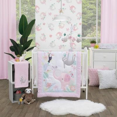 Little Love by NoJo Tropical Garden Mini Crib Set - 3pc