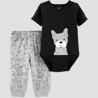 Baby Boys' 2pc Dog Set - Just One You® made by carter's Black Newborn