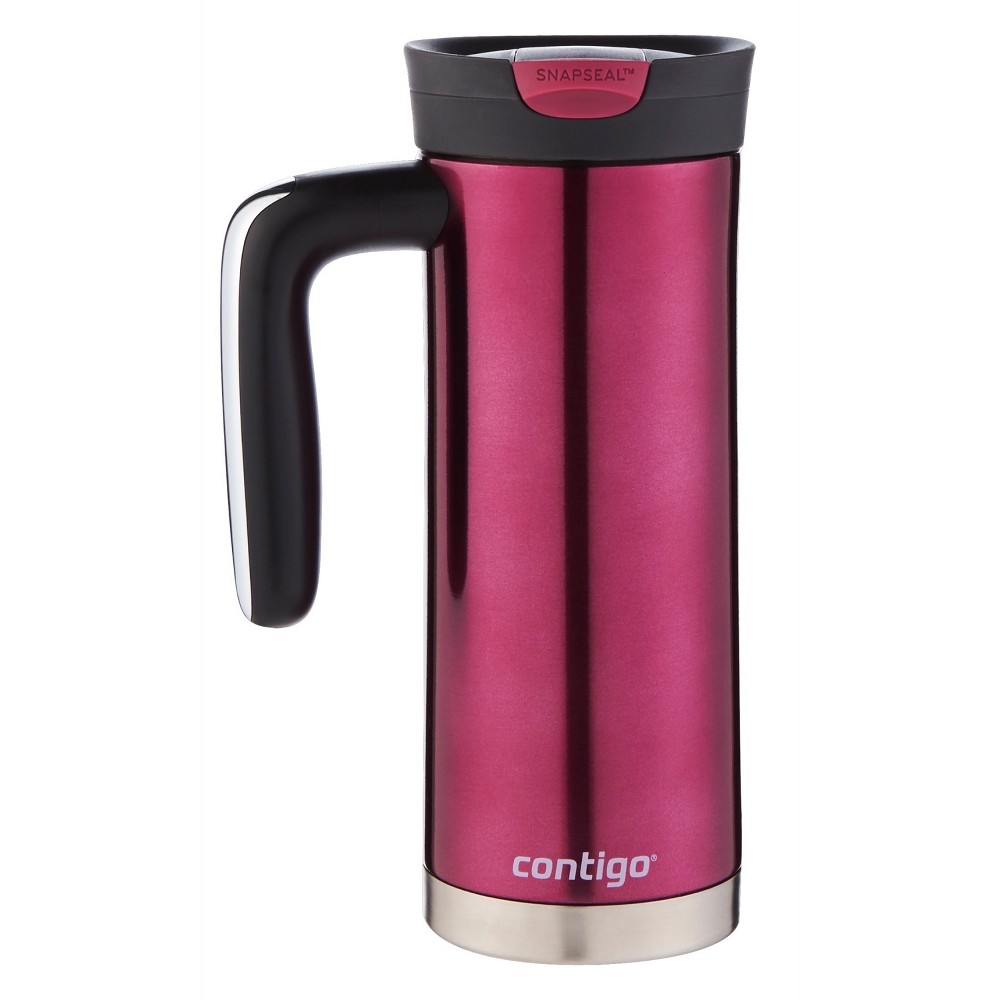 Image of Contigo Snapseal 20oz Superior Insulated Stainless Steel Travel Mug with Handle Red