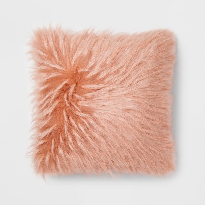 Pink Faux Fur Throw Pillow - Project 62™