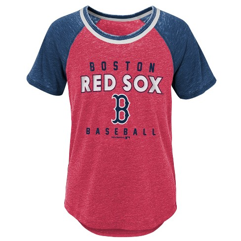 084066a6 MLB Boston Red Sox Girls' Burnout Alt T-Shirt : Target
