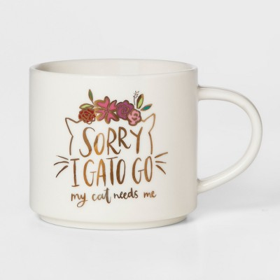 16oz Porcelain I Gato Go Mug White - Threshold™