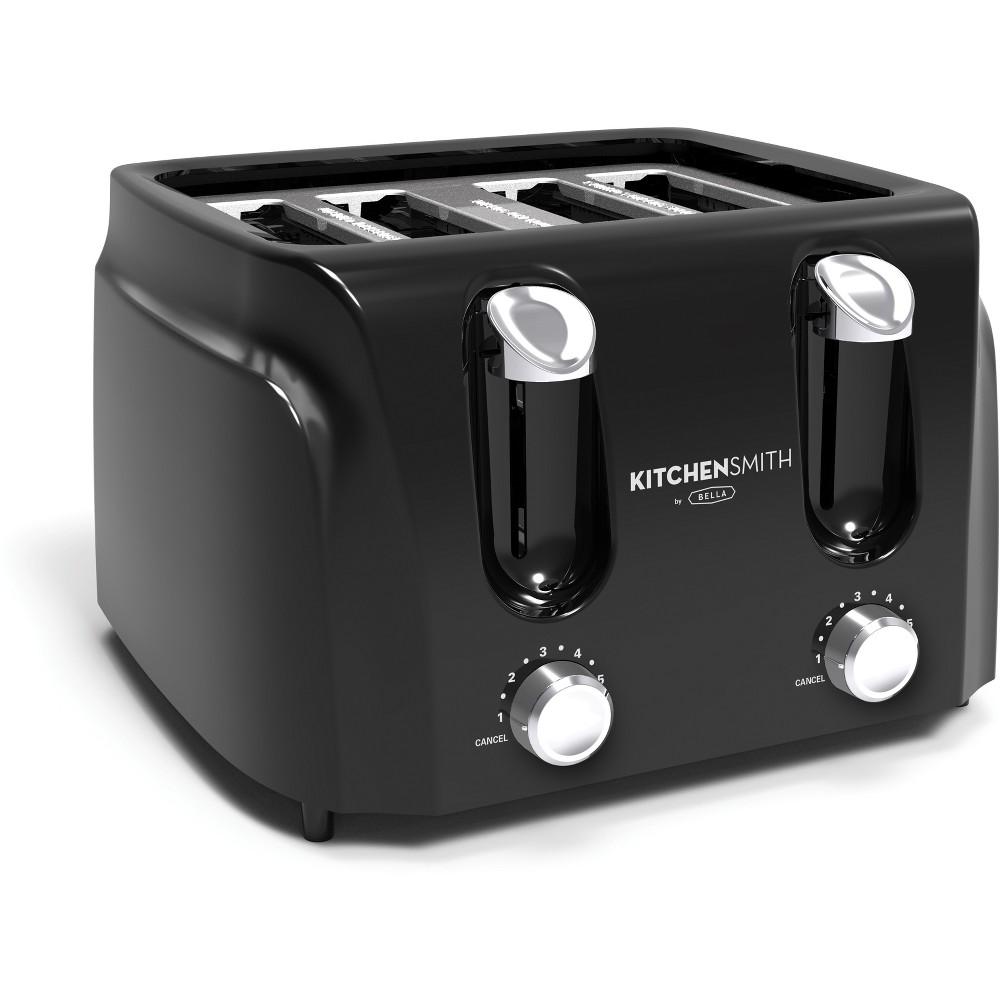 Image of KitchenSmith 4 Slice Toaster Black