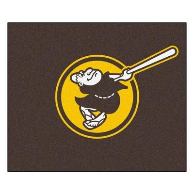 MLB San Diego Padres 5'x6' Swinging Friar Logo Rug