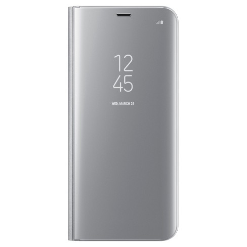 Samsung® Galaxy S8+ S-View Flip Cover Clear - Silver - image 1 of 5