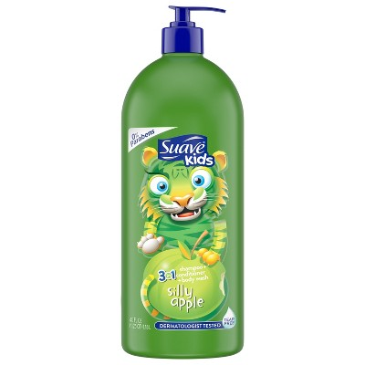 Suave Kids Apple 3in1 Shampoo + Conditioner + Bodywash - 40 fl oz