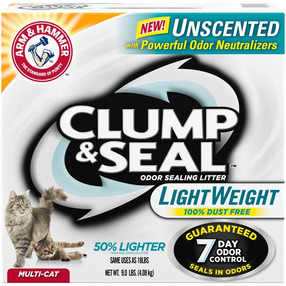 Arm & Hammer Clump & Seal Unscented Lightweight Clumping Cat Litter - 9lb