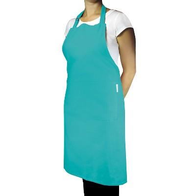 Herringbone Chef Apron Dark Turquoise - Mu Kitchen