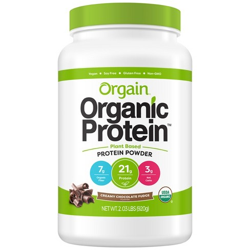 Orgain Organic Protein Plant-Based Protein Powder - Creamy Chocolate Fudge - 2.01lbs - image 1 of 3