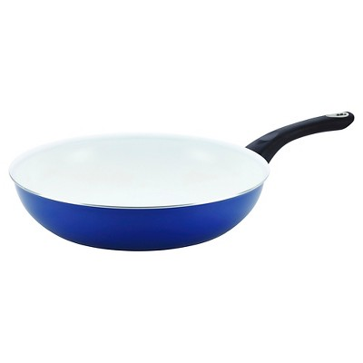 "Farberware PURECOOK Ceramic Nonstick Cookware Deep Skillet - Blue (12.5"")"
