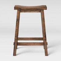 Deals on Threshold Halifax Farmhouse Wood Counter Height Barstool