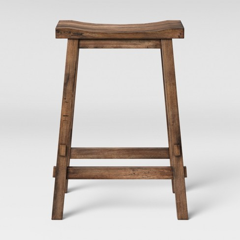 Halifax Farmhouse Wood Counter Stool Brown - Threshold™ - image 1 of 3