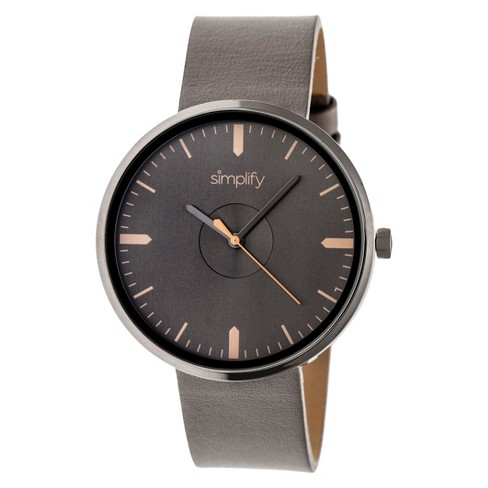 Men's Simplify The 4500 Leather-Band Watch - image 1 of 3