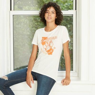 Women's Short Sleeve California Daydreamer Graphic T-Shirt - Awake White