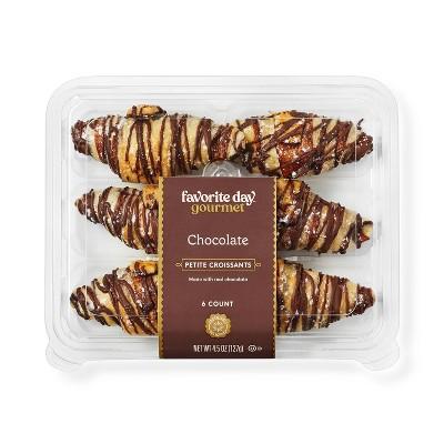 Chocolate Petite Croissants - 4.5oz/6ct - Favorite Day™