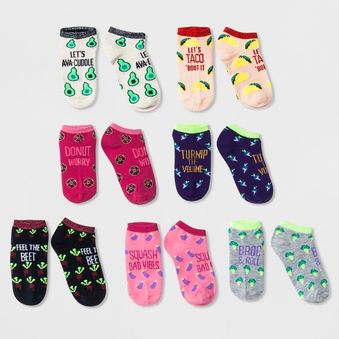 "Girls' 7Pk ""Food Puns"" No Show Socks - Cat & Jack™ - image 1 of 1"