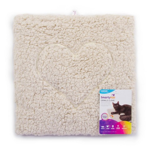 SmartyKat Crinkle Cloud Heart Stitched Crinkle Cat Mat and Bed - image 1 of 4