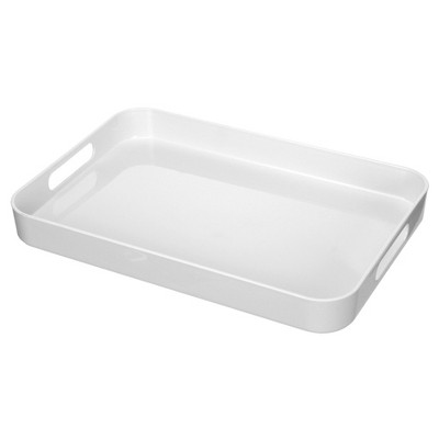 Felli Acrylic Serving Tray 19  x 13.6  - White