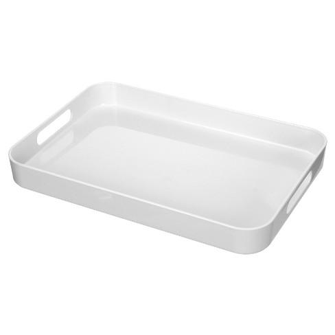 "Felli Acrylic Serving Tray 19"" x 13.6"" - White - image 1 of 1"