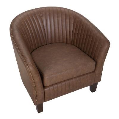 Superieur Shelton Contemporary Club Chair Brown   LumiSource