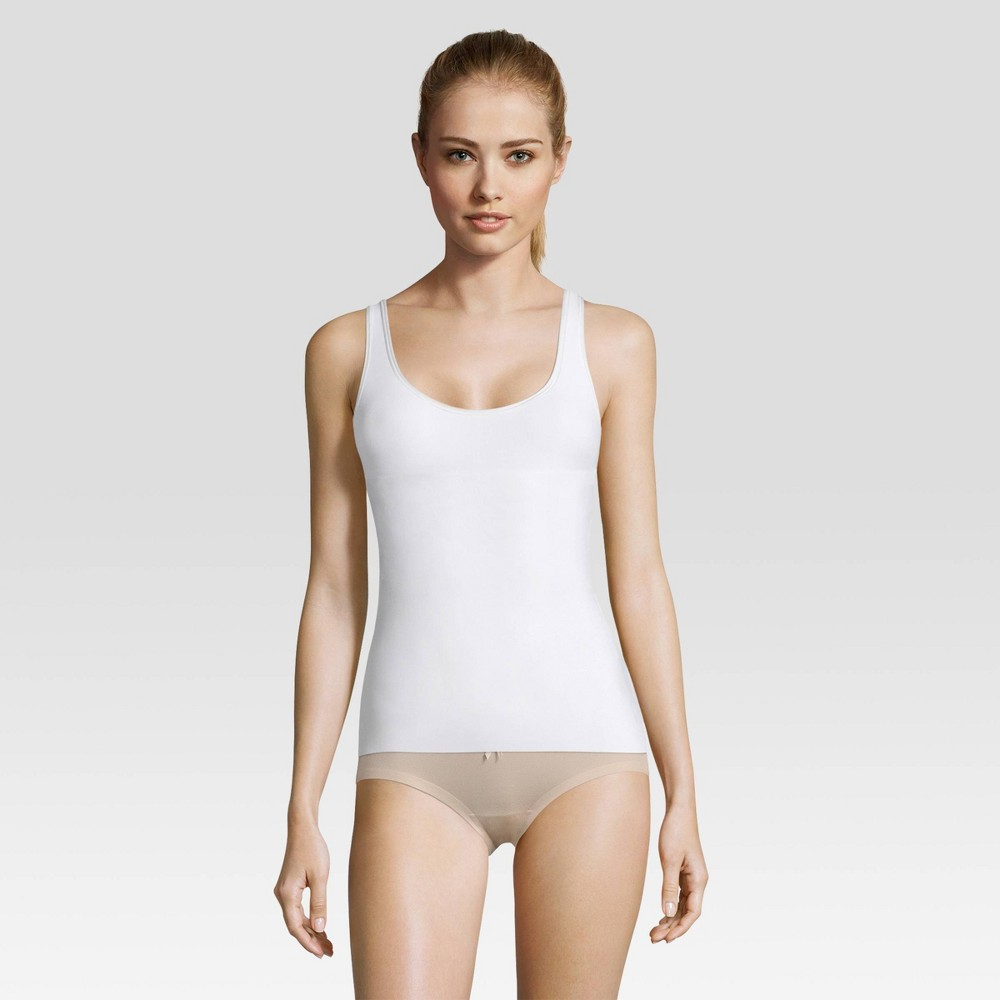 Image of Maidenform Self Expressions Women's Tame your Tummy Tank - White M, Size: Medium