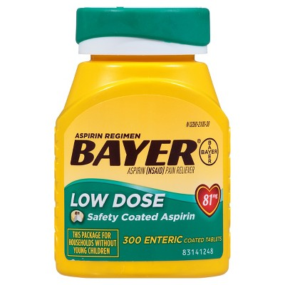 Pain Relievers: Bayer Low Dose