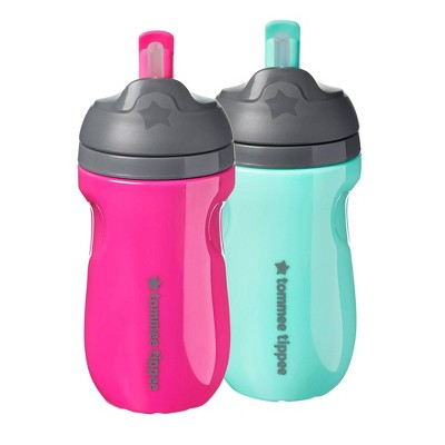 Tommee Tippee 2pk Insulated Straw Toddler Cup - 9oz