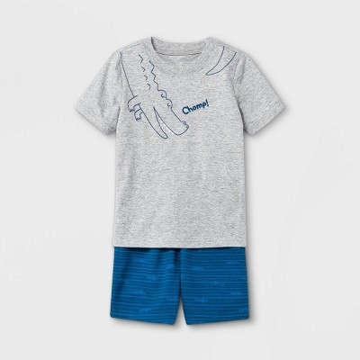 Toddler Boys' 2pc Alligator Short Sleeve T-Shirt and Shorts Set - Just One You® made by carter's Blue/Gray