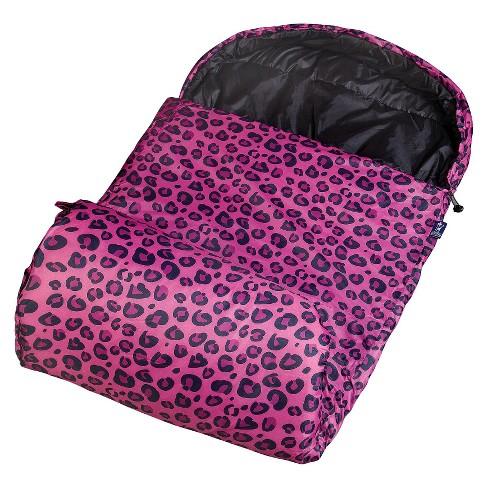 Wildkin Leopard Stay Warm Sleeping Bag Pink